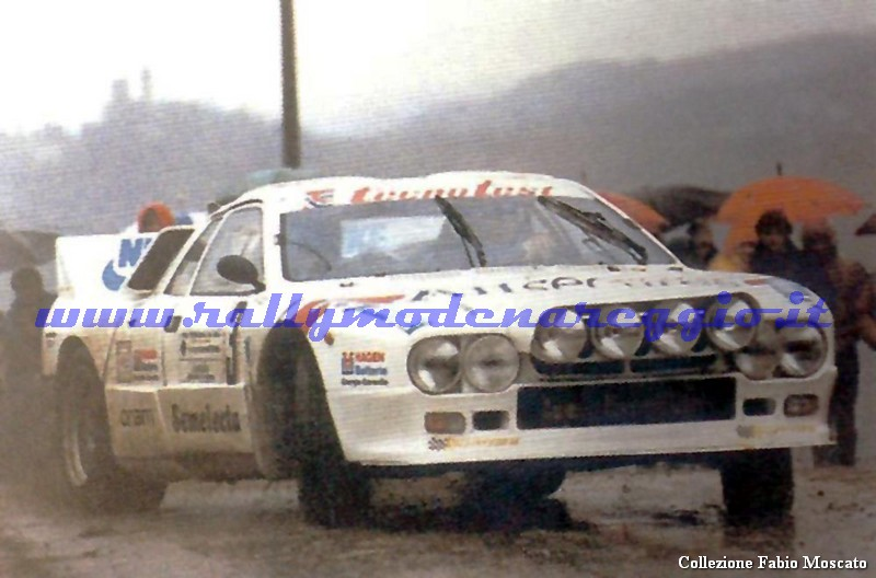 Moscato-Lotti al Rally dell'Emilia 1987