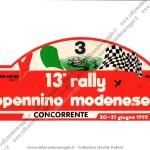1992 - Rally Appennino Modenese, Targa di gara di Pelloni-Casari
