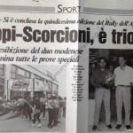Rally Appennino Modenese 1994, articolo della Gazzetta di Modena
